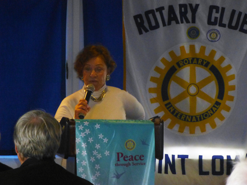 Frances Gelbart at Point Loma Rotary Feb. 8, 2013
