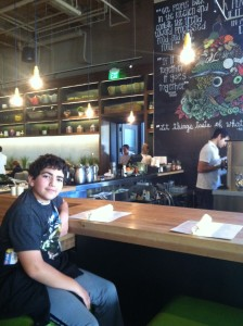 Shor Relaxes At The Juice Bar