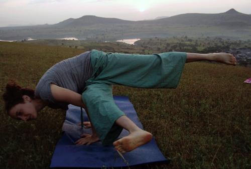 Amanda Miller in yoga exercise