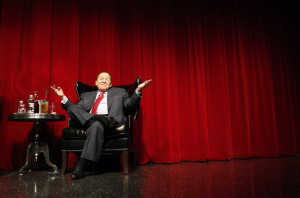 Las Vegas Sands Corporation Chairman Sheldon Adelson speaks to students at the University of Las Vegas, Nevada in Las Vegas Thursday, April 26, 2012. (AP/Las Vegas Review-Journal, John Locher)