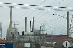 St. Clair Power Plant, a large coal-fired generating station in Michigan, United States.