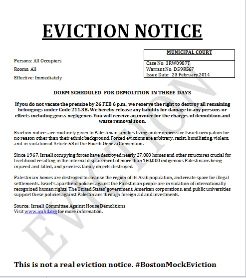 Mock eviction notices seen as anti semitic san diego jewish world mock eviction notice thecheapjerseys Choice Image
