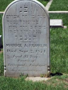 maurice franklin gravestone