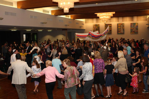 A celebration in the Cohen Social Hall of Tifereth Israel Synagogue