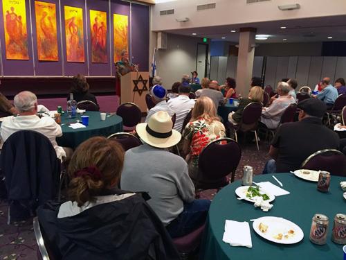 San Diego City Councilwoman Marti Emerald at Tifereth Israel Men's Club, July 1, 2015