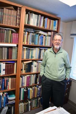 Rabbi Roberto D. Graetz in his Temple Isaiah study