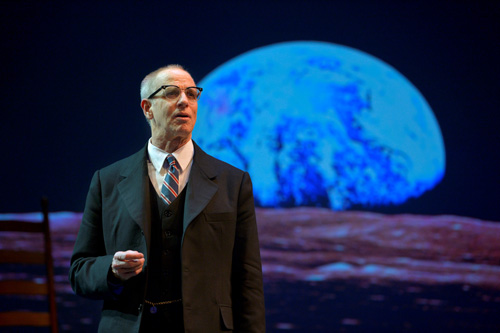 (Ron Campbell as R. Buckminster Fuller. Photo Credit: Kevin Berne)