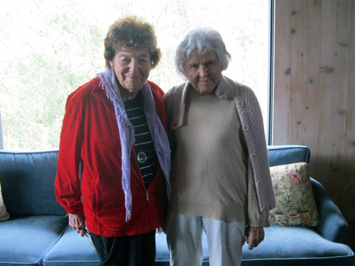 Vivian Blackstone, left, and Deborah Szekely