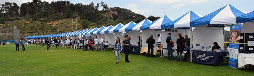 Numerous booths lined the sides of the Israel Fest grounds.