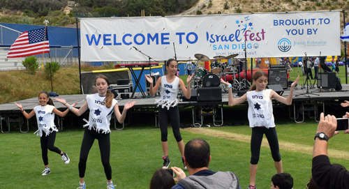 Dancers from Tarbuton, a supplemental Hebrew language program, perform at IsraelFest 2016
