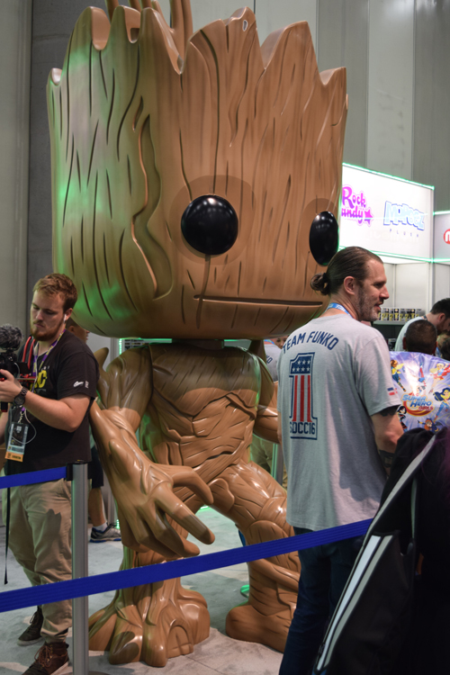Funko Pop toy of Groot from Guardians of the Galaxy