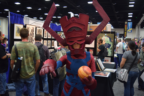 Galactus, from Marvel/ Fantastic four, the devourer of planets' life essence.