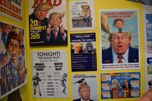Trump's wall at the Mad magazine section