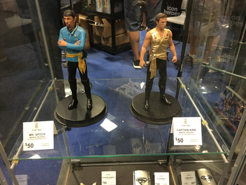 The mirror universe versions of Spock and Kirk from Star Trek the original series. This year marks the 50th anniversary of the original series.