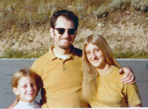 Al Jacobs with daughters Rhonda, left, and Olga, right, in Pocatello, Idaho, 1967.