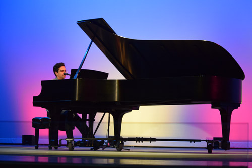 """Jazz pianist Michael Sanchez closed PHAME's inaugural program with a bilingual rendition of """"What A Difference A Day Made."""""""