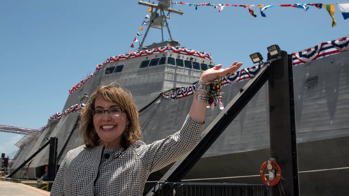 USS Gabrielle Giffords commissioned in Texas in her honor