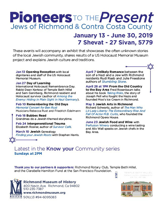 History of Contra Costa County Jews on exhibit - San Diego